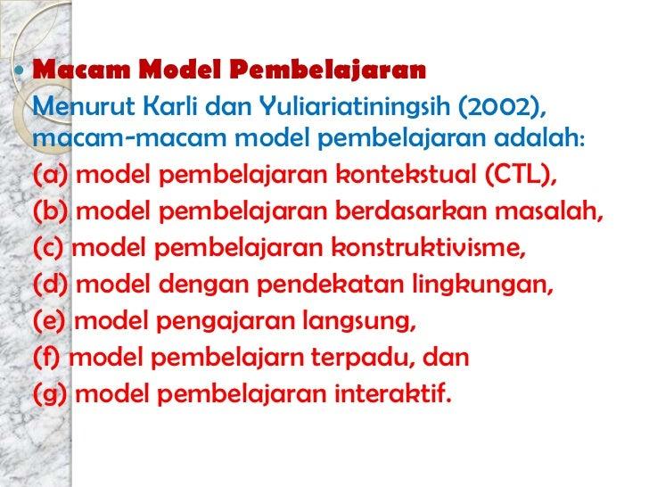 Hakikat Pendekatan Model Metode Dan Teknik Pembelajaran