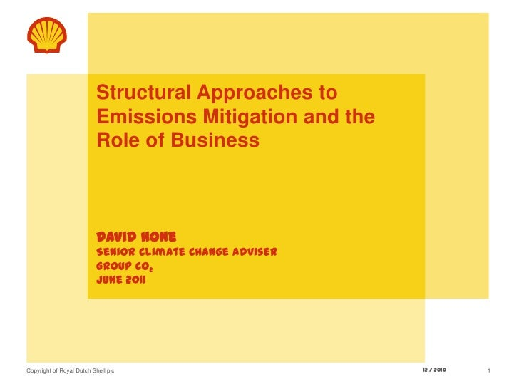 Structural Approaches to Emissions Mitigation and the Role of BusinessDavid HoneSenior Climate Change AdviserGroup CO2June...