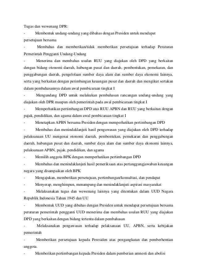 Nama Tugas Dan Wewenang Presiden Wakil Presiden Mpr Dpr Ma Mk