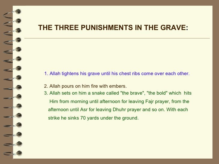 """THE THREE PUNISHMENTS IN THE GRAVE : 3. Allah sets on him a snake called """"the brave"""", """"the bold"""" which..."""