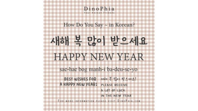 새해 복 많이 받으세요 Happy New Year Korean How Do You Say in Korean