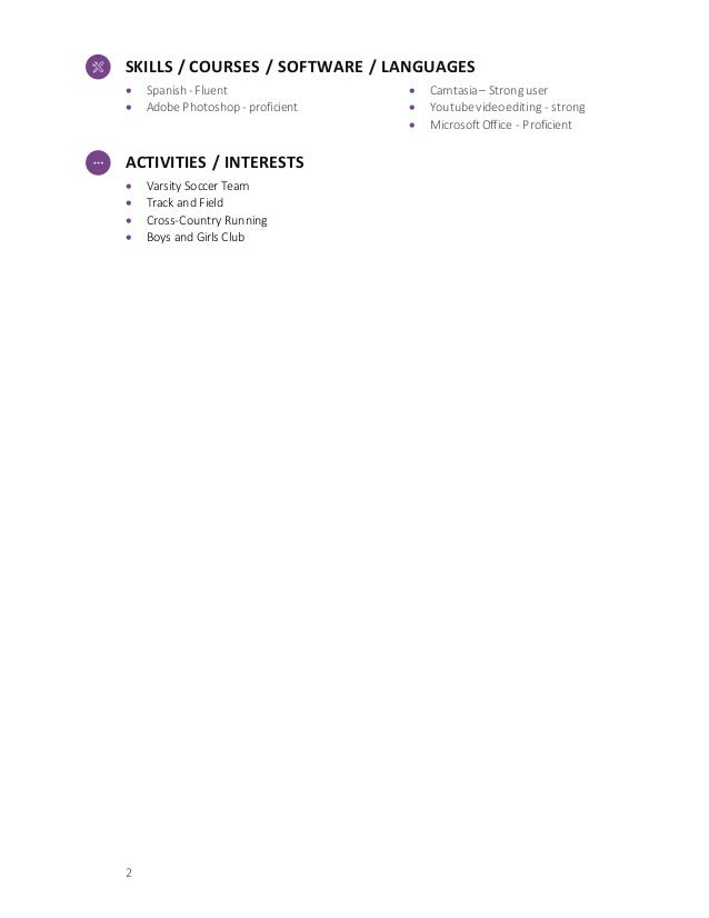 high school resume demo template
