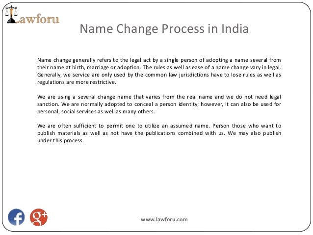 Name Change Process in India