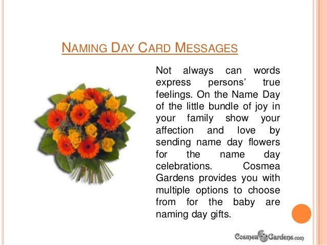 Name day flowers naming day card messages m4hsunfo