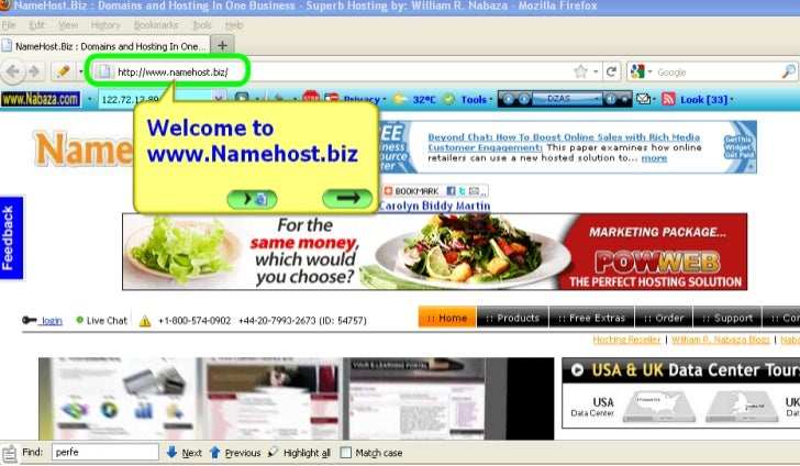 How to get FREE Domain Name with Unlimited Web Hosting? by: William R. Nabaza of www.Nabaza.com & www.Namehost.biz
