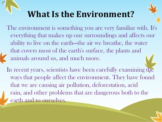 Essay on problems of pollution