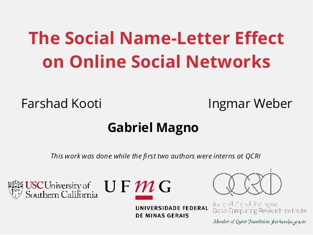 The Social Name Letter Effect on Online Social Networks