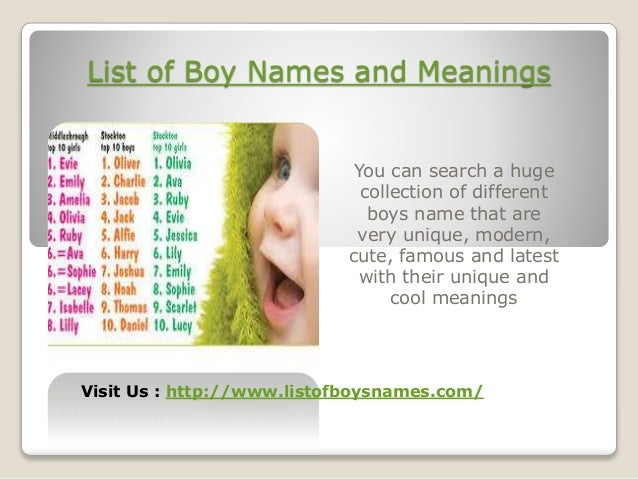 2 List Of Boy Names And Meanings