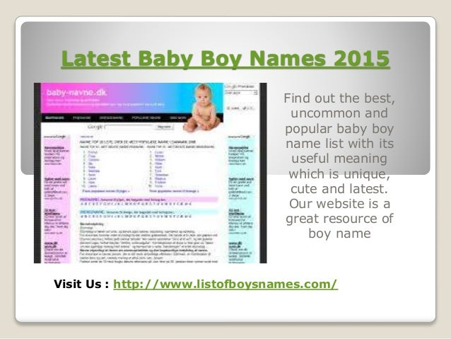 3 Latest Baby Boy Names