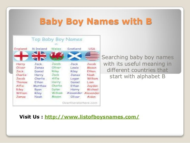 5 Baby Boy Names With B