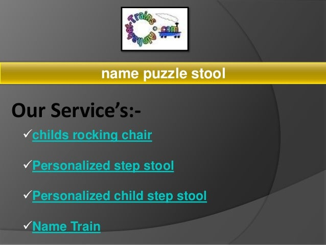 Remarkable Name Puzzle Stool Onthecornerstone Fun Painted Chair Ideas Images Onthecornerstoneorg