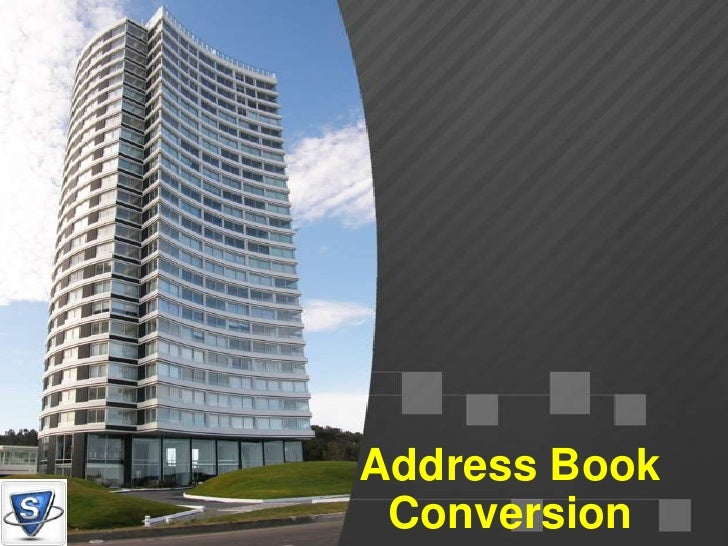 Address Book Conversion