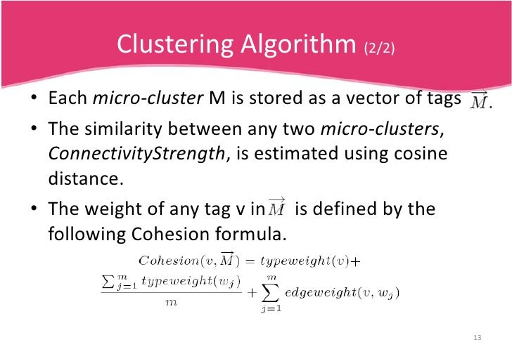 Clustering Algorithm (1/2)<br />We develop a two-step clustering approach for the problem of name disambiguation.<br />The...