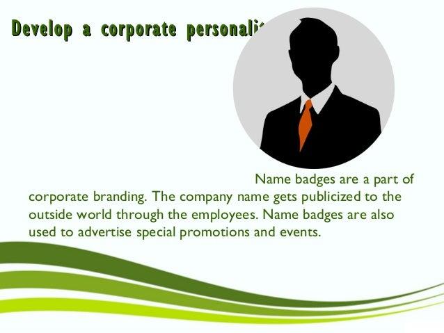 Use of name badges Slide 3