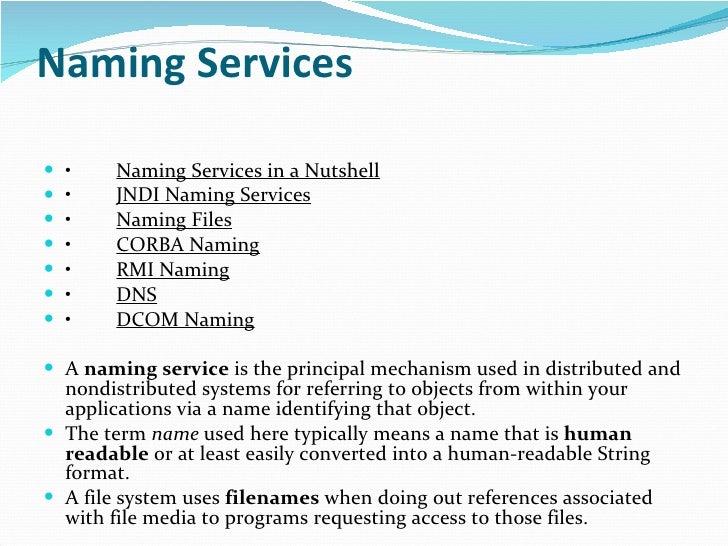 Name services Slide 2