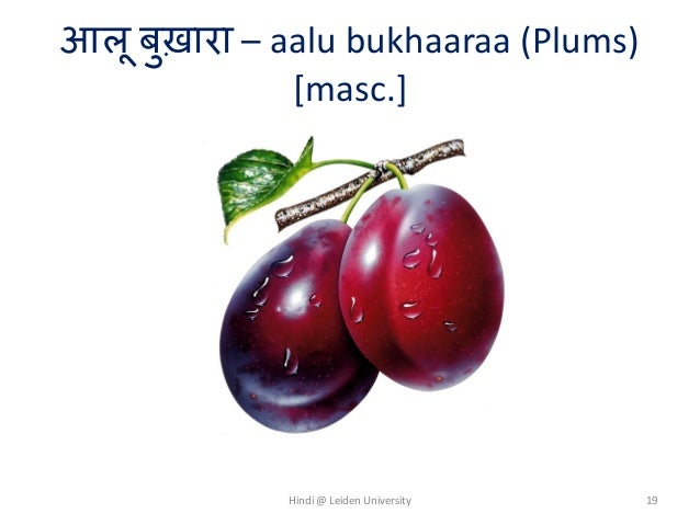 Names of fruits in Hindi-Urdu