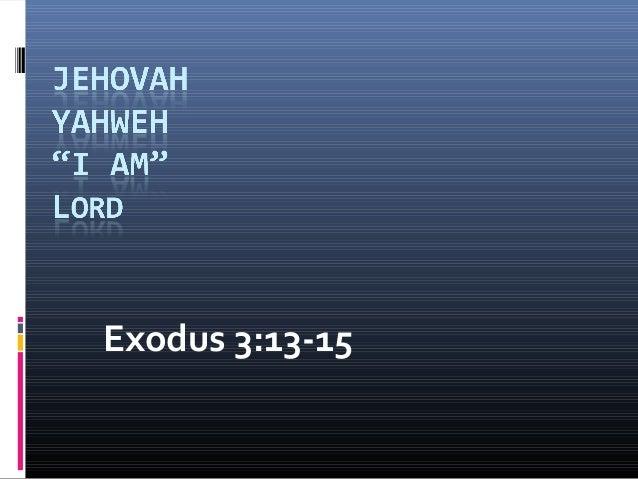 Exodus 3:13-15