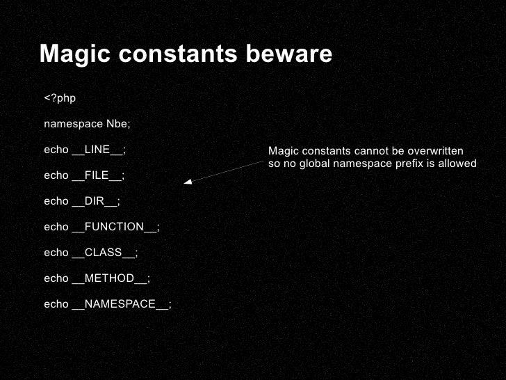 Magic constants beware