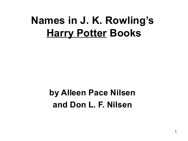 Harry Potter Book Names ~ Names in j k rowling s harry potter books