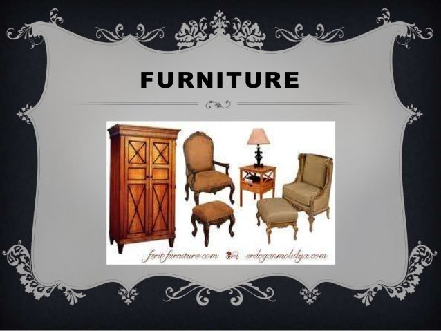 Name the things that you can t live without. Furniture Things Name