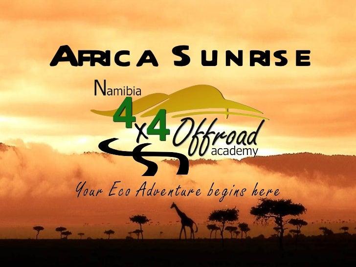 Africa S u nris e