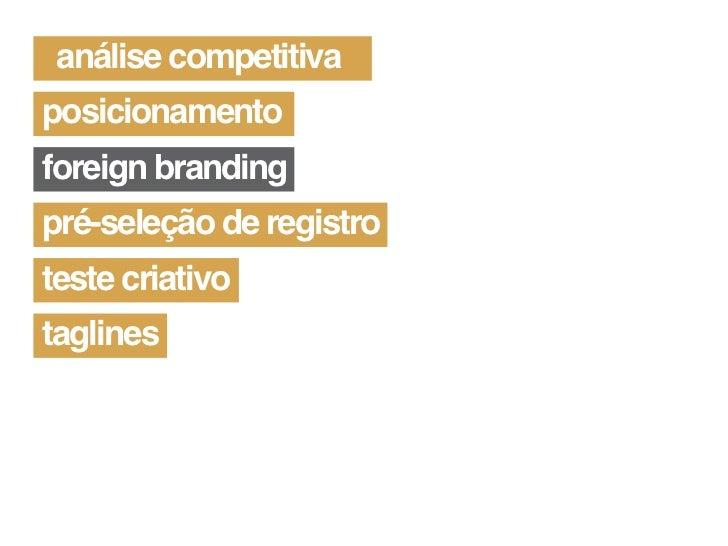 Naming como processo do Branding