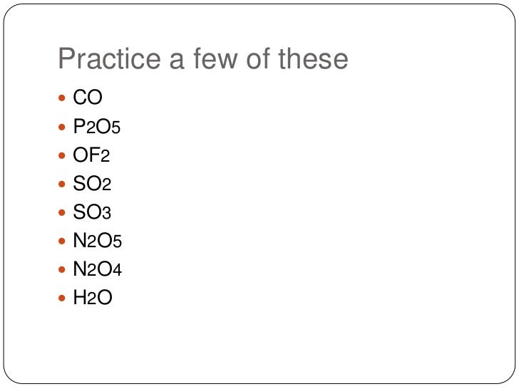 Naming covalent compounds and acids – Naming Compounds Practice Worksheet