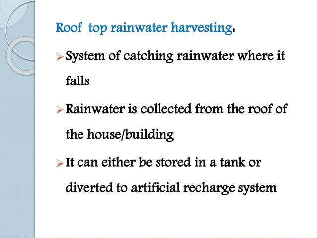 ground water harvesting Artificial groundwater recharge through roadside and open space rain water  harvesting structures in coimbatore city india is a land where rivers form the.