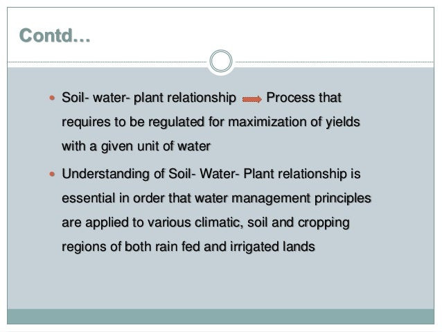 Soil plant and water relationships dating. dating sites for over 50 in canada.