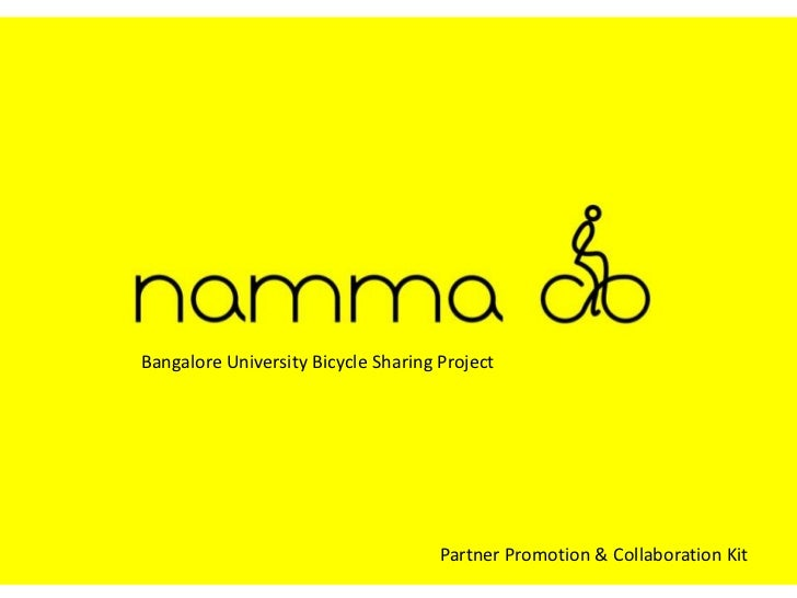 Bangalore University Bicycle Sharing Project<br />Partner Promotion & Collaboration Kit<br />
