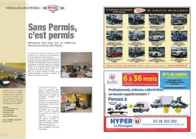3130 Sans Permis, c'est permis VÉHICULES SANS PERMIS / L'univers de la voiture sans permis ne cesse d'évoluer. Il n'a déso...