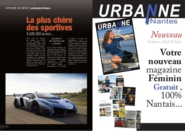 VOITURE DE RÊVE / Lamborghini Veneno La plus chère des sportives 3 600 000 euros… Rares sont les véhicules qui alignent de...