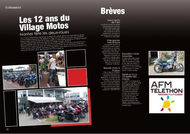 5 Brèves Salon Moto de Paris Le salon de la moto, du scooter et du quad ouvrira ses portes le 3 décembre au parc expo de l...
