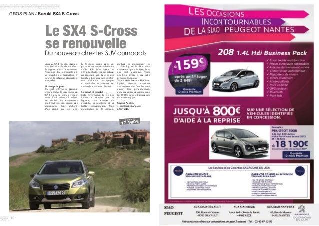 12 GROS PLAN / Suzuki SX4 S-Cross Avec ce SX4 revisité, Suzuki a décidé d'entrer de plain-pied sur le segment des SUV com...