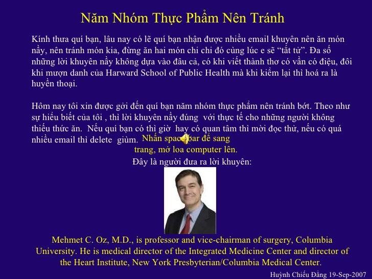 Nam Nhom Thuc Pham Nen Tranh