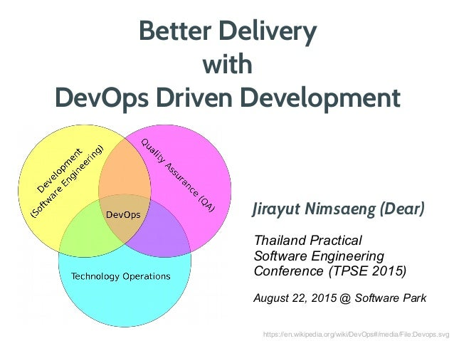 Better Delivery with DevOps Driven Development Jirayut Nimsaeng (Dear) Thailand Practical Software Engineering Conference ...