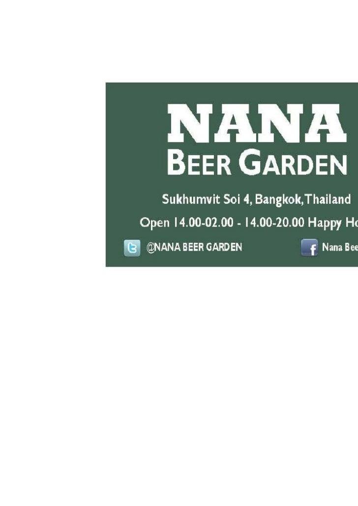 Nana Beer Garden - Christmas 2011