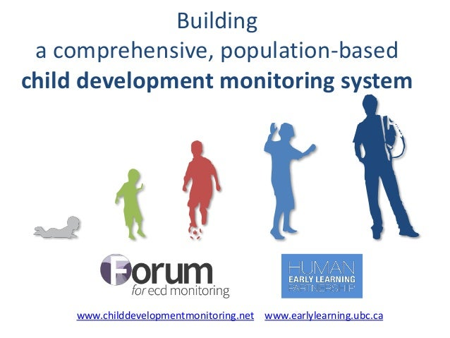Building a comprehensive, population-based child development monitoring system www.childdevelopmentmonitoring.net www.earl...