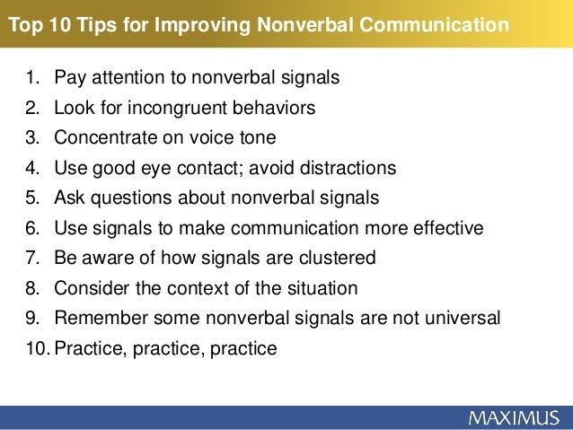 Communication nonverbal 5 of examples Types of