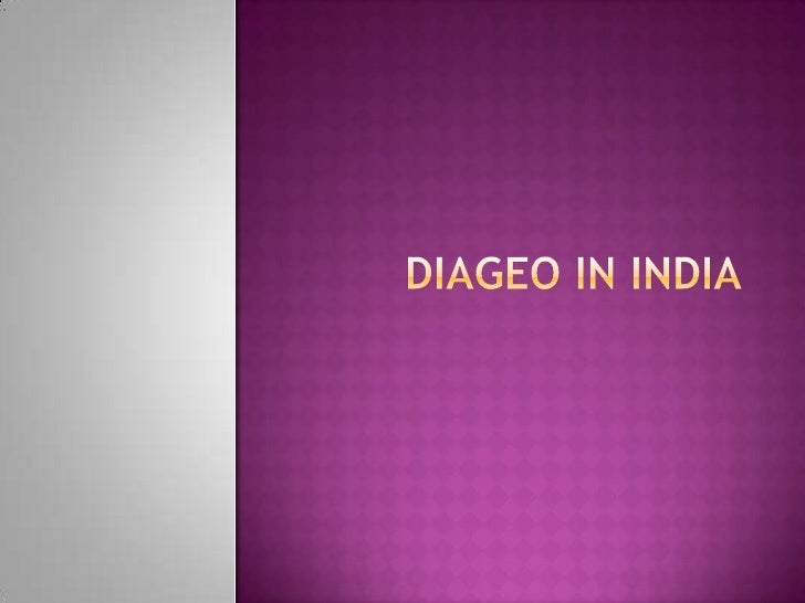 Diageo in india<br />