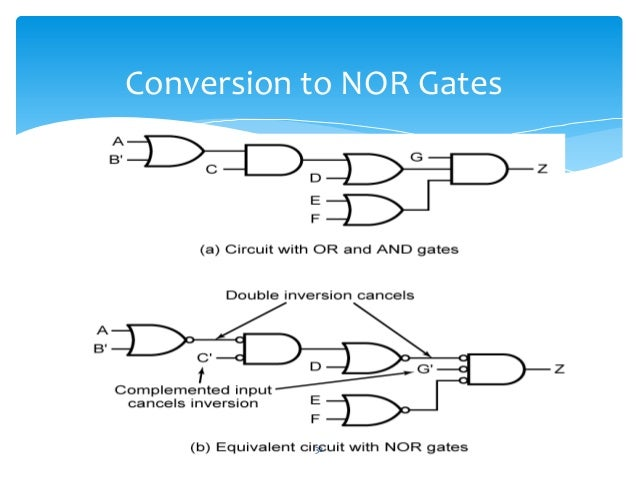 how to make nand gate from nor gate