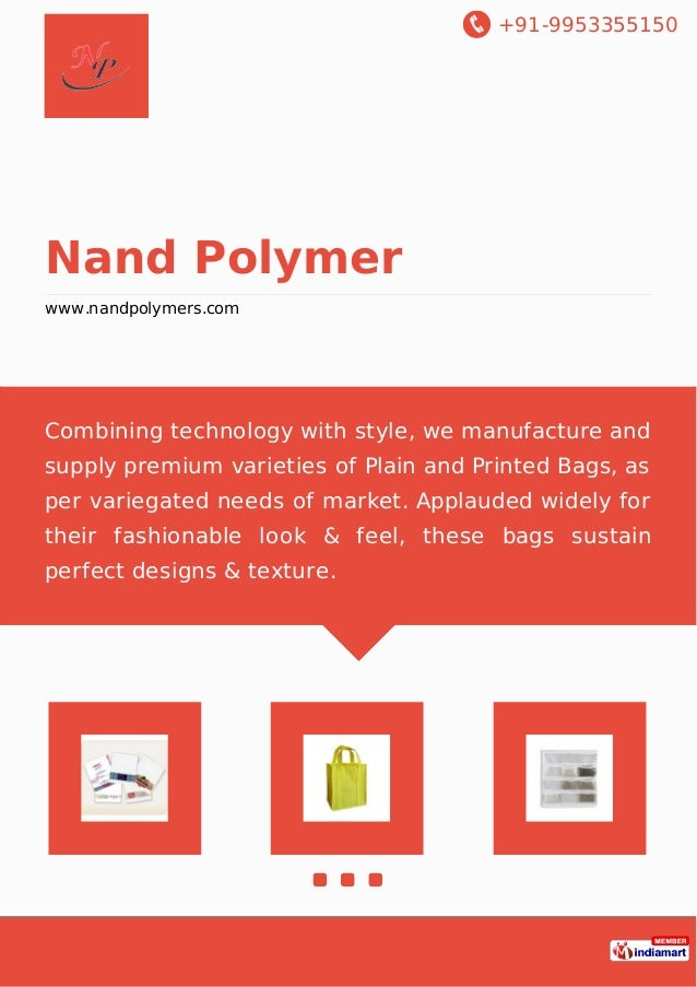 +91-9953355150 Nand Polymer www.nandpolymers.com Combining technology with style, we manufacture and supply premium variet...