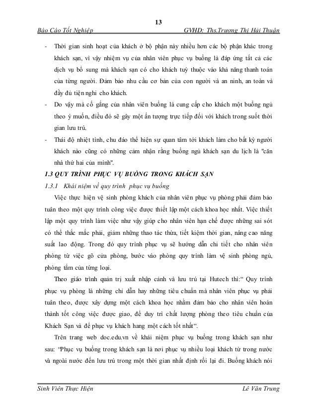 13 Báo Cáo Tốt Nghiệp GVHD: Ths.Trương Thị Hải Thuận Sinh Viên Thực Hiện Lê Văn Trung - Thời gian sinh hoạt của khách ở b...