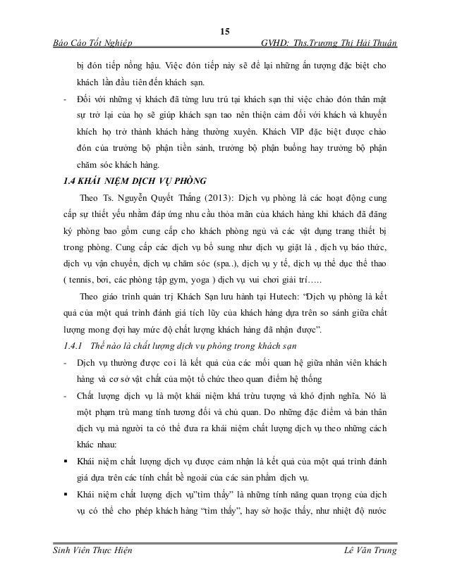 15 Báo Cáo Tốt Nghiệp GVHD: Ths.Trương Thị Hải Thuận Sinh Viên Thực Hiện Lê Văn Trung bị đón tiếp nồng hậu. Việc đón tiếp...