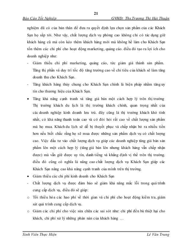 21 Báo Cáo Tốt Nghiệp GVHD: Ths.Trương Thị Hải Thuận Sinh Viên Thực Hiện Lê Văn Trung nghiệm đã có của bản thân để đưa ra ...