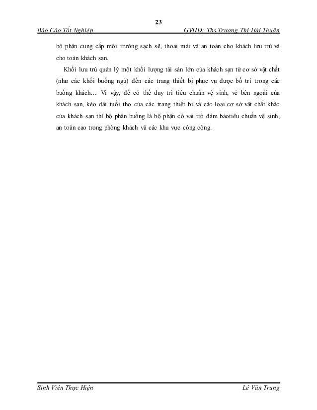 23 Báo Cáo Tốt Nghiệp GVHD: Ths.Trương Thị Hải Thuận Sinh Viên Thực Hiện Lê Văn Trung bộ phận cung cấp môi trường sạch se...
