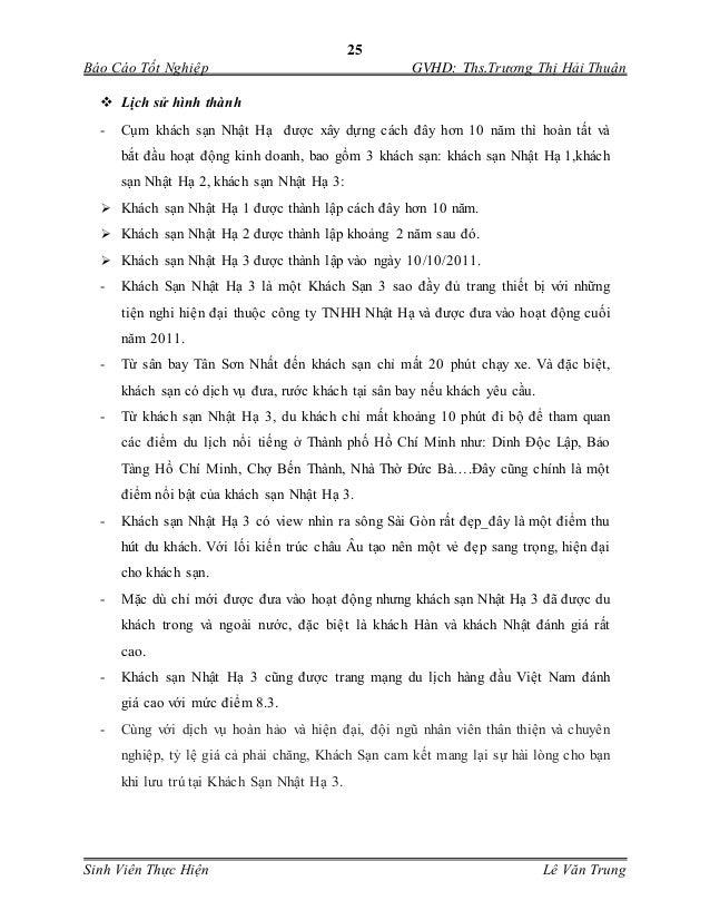 25 Báo Cáo Tốt Nghiệp GVHD: Ths.Trương Thị Hải Thuận Sinh Viên Thực Hiện Lê Văn Trung  Lịch sử hình thành - Cụm khách sạ...