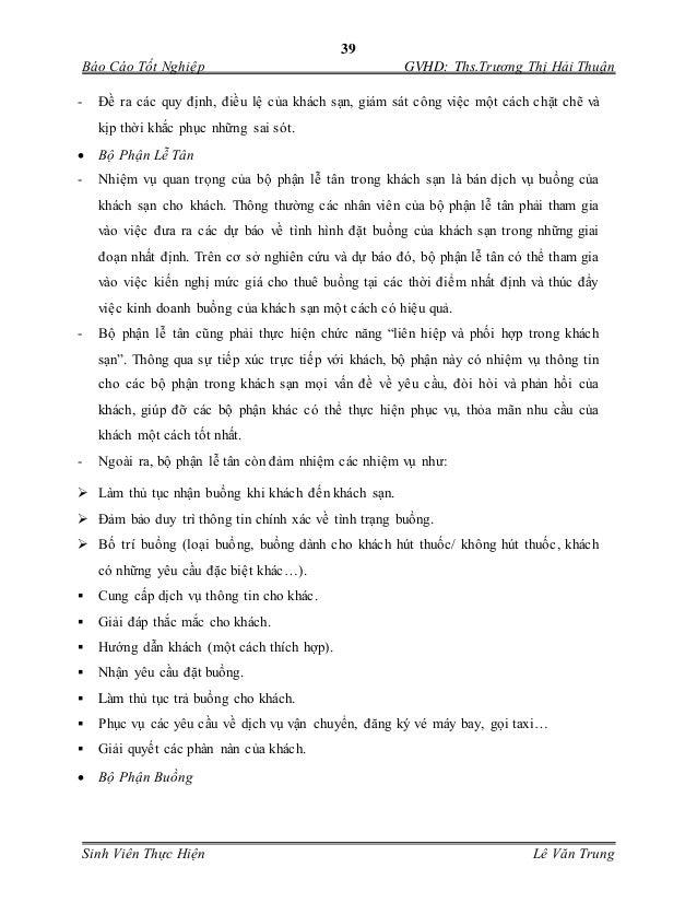 39 Báo Cáo Tốt Nghiệp GVHD: Ths.Trương Thị Hải Thuận Sinh Viên Thực Hiện Lê Văn Trung - Đề ra các quy định, điều lệ của kh...