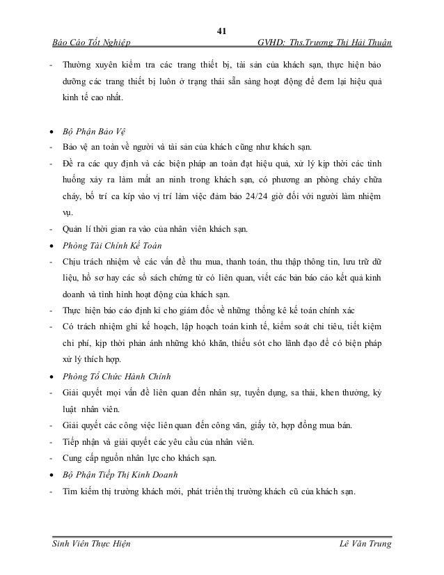 41 Báo Cáo Tốt Nghiệp GVHD: Ths.Trương Thị Hải Thuận Sinh Viên Thực Hiện Lê Văn Trung - Thường xuyên kiểm tra các trang th...