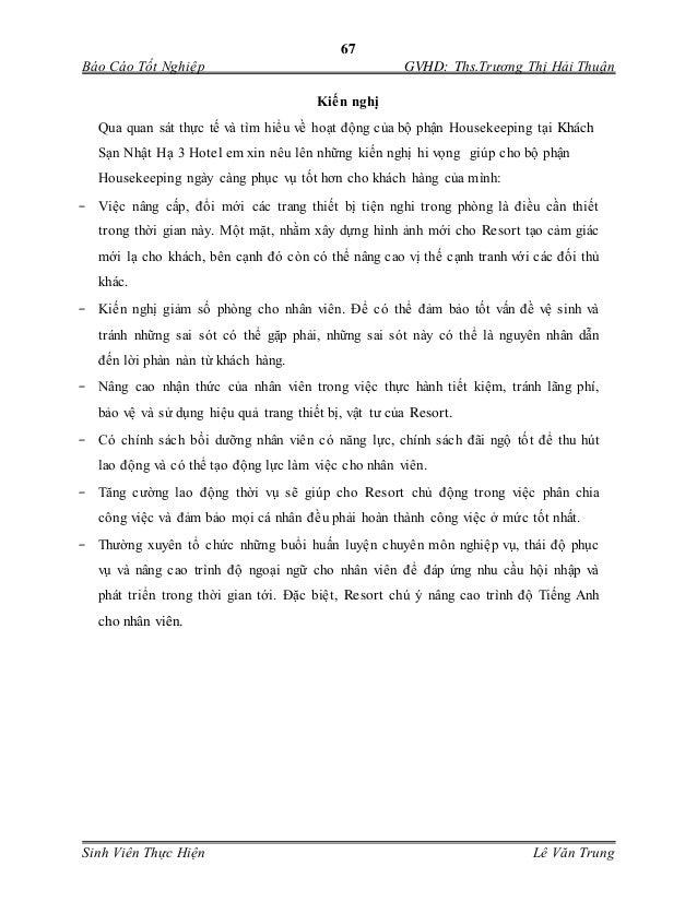 Đề tài: Nâng cao chất lượng dịch vụ phòng tại khách sạn Nhật Hạ 3